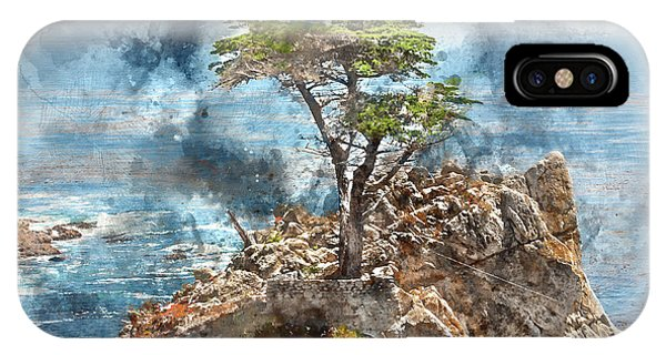 Lone Cypress In Monterey California IPhone Case
