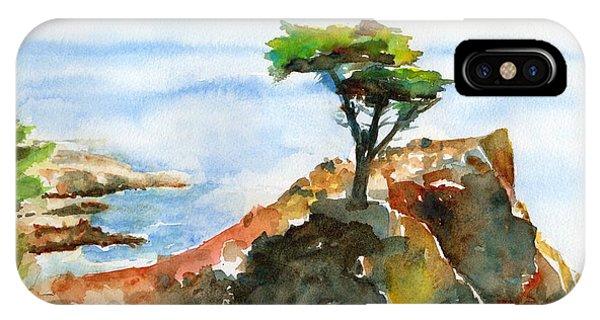 Lone Cypress Pebble Beach Fog IPhone Case