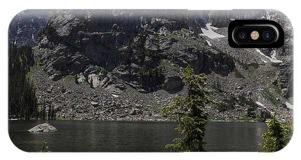 Indian Peaks Wilderness iPhone Case - Lone Eagle Peak From Crater Lake by Aaron Spong