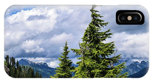 Lone Fir With Clouds IPhone Case