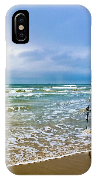 Lone Fishing Pole IPhone Case