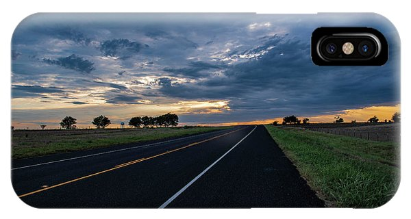 Lone Highway At Sunset IPhone Case