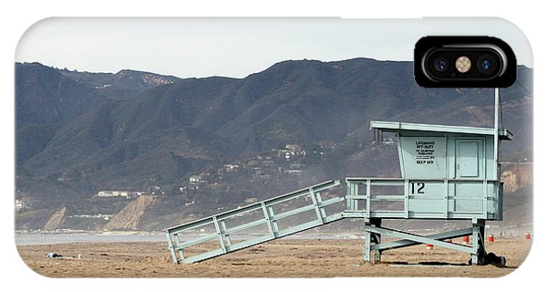 Lone Lifeguard Tower IPhone Case