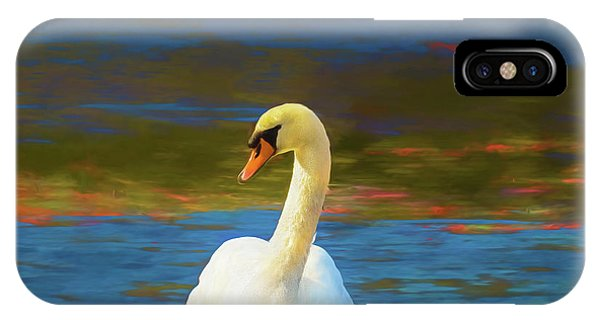 Lone Mute Swan. IPhone Case