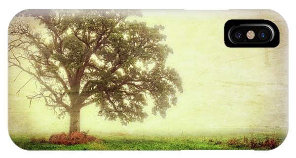 The Nature Center iPhone Case - Lone Oak Tree In Fog by Jennifer Rondinelli Reilly - Fine Art Photography