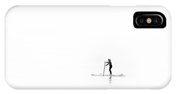 IPhone Case featuring the photograph Lone Paddle Boarder by Will Gudgeon