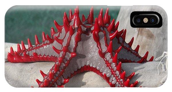 Exploramum iPhone Case - Lone Red Starfish On A Wooden Dhow 3 by Exploramum Exploramum
