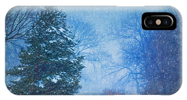 Lone Snowy Lane IPhone Case