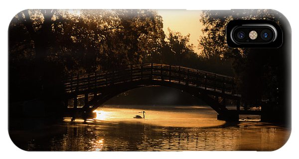 Lone Swan Up For Dawn IPhone Case