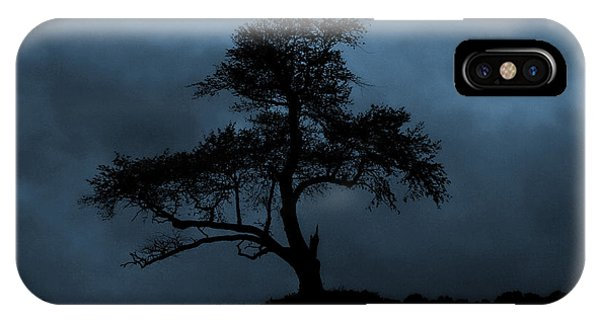 Lone Tree Blue IPhone Case