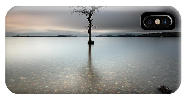 Lone Tree Loch Lomond IPhone Case