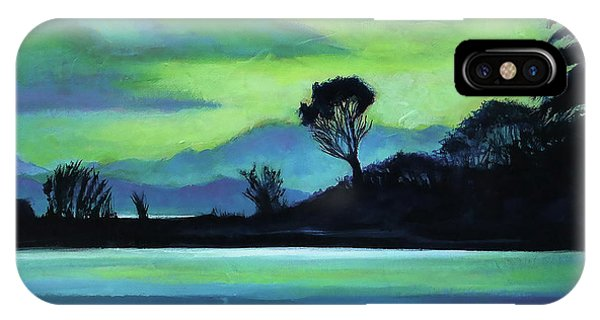 IPhone Case featuring the painting Lone Tree On The Salish Sea by Angela Treat Lyon