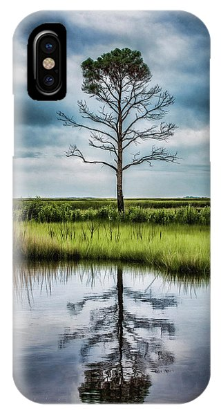 Lone Tree Reflected IPhone Case