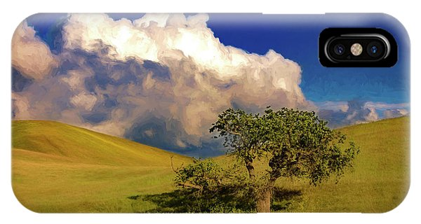 Lone Tree With Storm Clouds IPhone Case