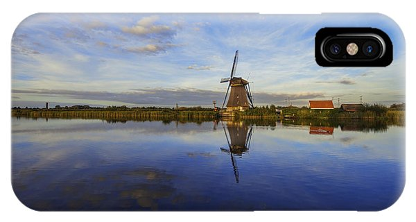 Windmill iPhone Case - Lone Windmill by Chad Dutson