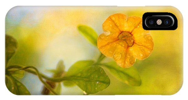 Lone Yellow Flower IPhone Case