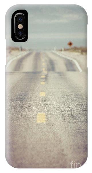 Distant iPhone Case - Lonely Desert Highway Road by Edward Fielding
