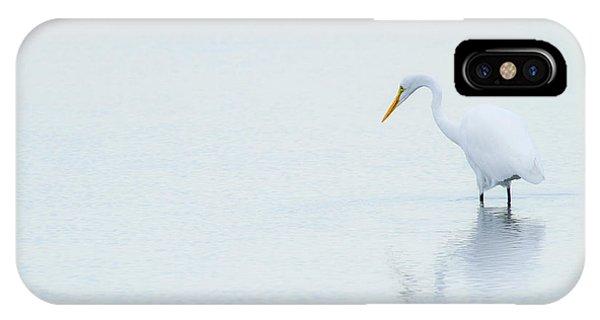 Lonely Egret IPhone Case