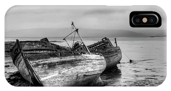 IPhone Case featuring the photograph Lonely Fishing Boats by Michalakis Ppalis