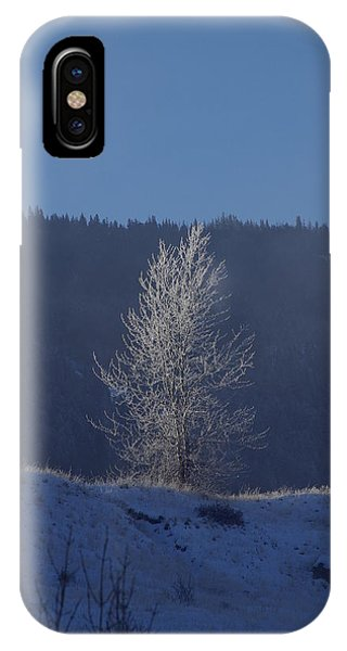 Lonely Frosty Tree IPhone Case