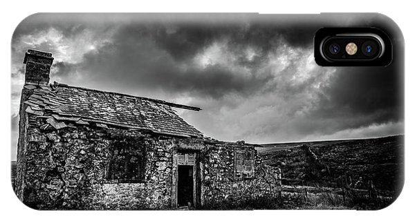 Ruin iPhone Case - Lonely House  by Mark Mc neill