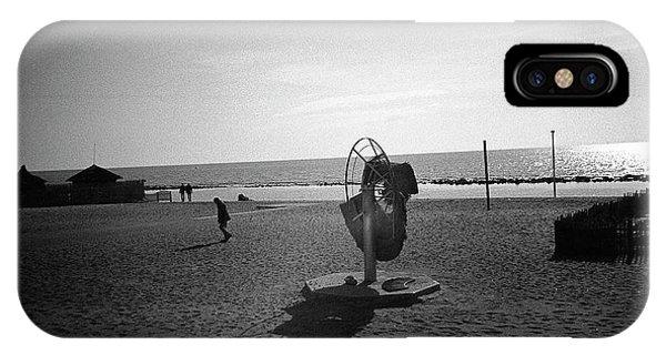 Lonely Man In Ostia Beach IPhone Case