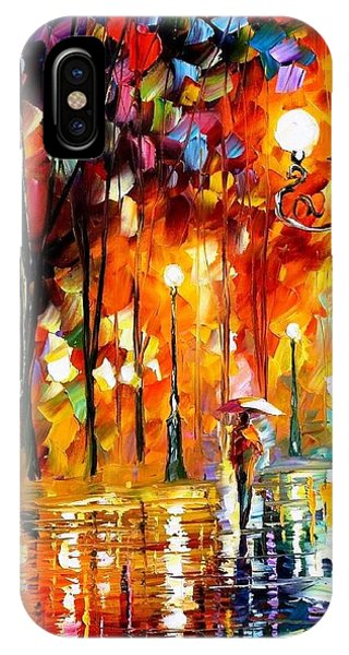 iPhone Case - Lonely Night 3 - Palette Knife Oil Painting On Canvas By Leonid Afremov by Leonid Afremov