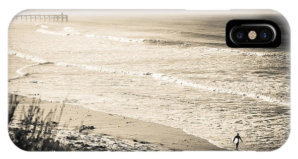 IPhone Case featuring the photograph Lonely Pb Surf by T Brian Jones