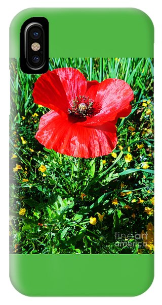 Lonely Poppy IPhone Case