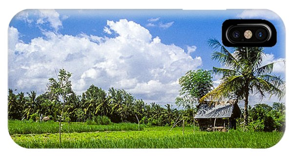 IPhone Case featuring the photograph Lonely Rice Hut by T Brian Jones