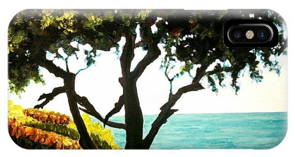 Lonely Tree By The Beach IPhone Case