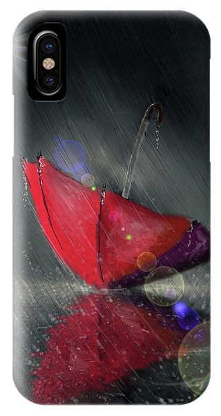 Lonely Umbrella IPhone Case