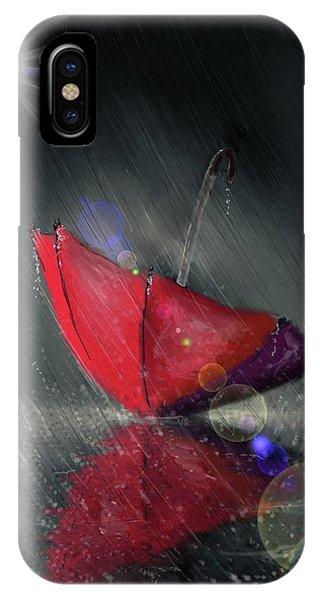Lonely Umbrella IPhone Case