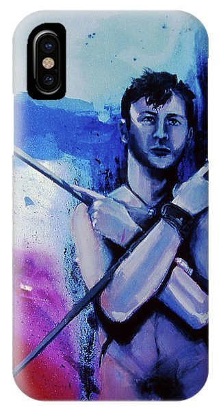 IPhone Case featuring the painting Lonely Warrior  by Rene Capone