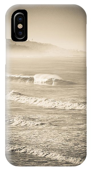 IPhone Case featuring the photograph Lonely Winter Waves by T Brian Jones
