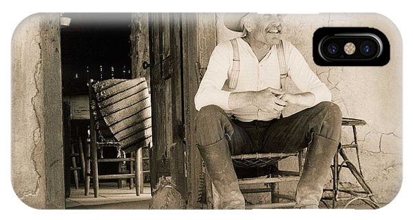 Wild Horses iPhone Case - Lonesome Dove Gus On Porch  by Peter Nowell