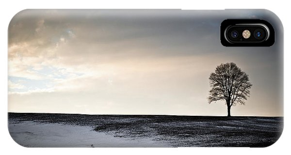 Lonesome Tree On A Hill IIi IPhone Case