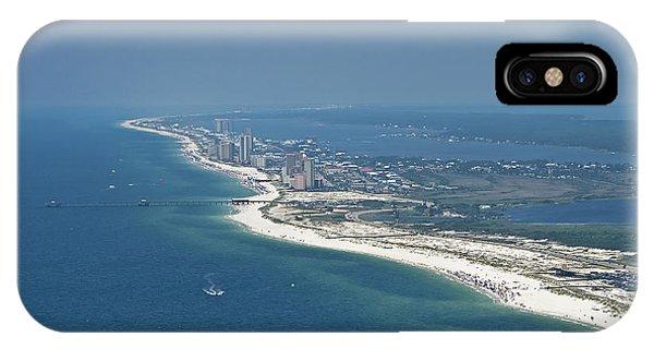Long, Aerial, Beach View IPhone Case