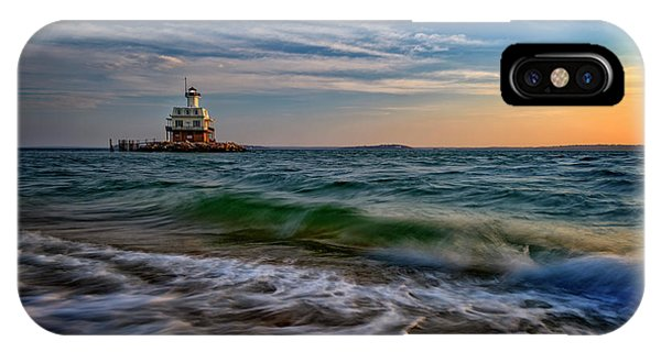 Long Beach Bar Lighthouse IPhone Case