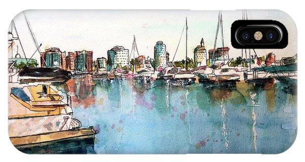 Long Beach Coastal View IPhone Case