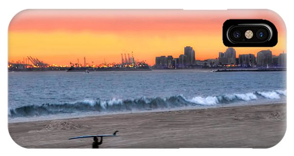 Long Beach From Huntington Beac IPhone Case