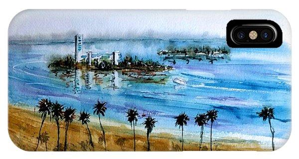 Long Beach Oil Islands Before Sunset IPhone Case