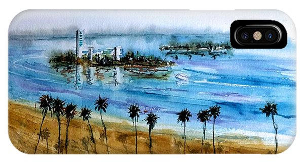 Long Beach Oil Islands Before Sunset IPhone Case