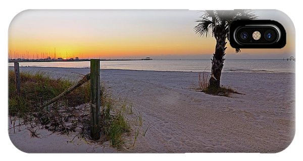 IPhone Case featuring the photograph Long Beach Sunrise - Mississippi - Beach by Jason Politte