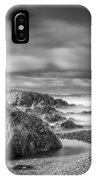 Long Exposure Of A Shingle Beach And Rocks IPhone Case