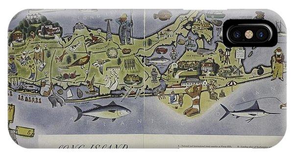 Long Island An Interpretive Cartograph IPhone Case