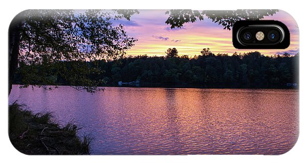 Long Lake Sunset 1 IPhone Case