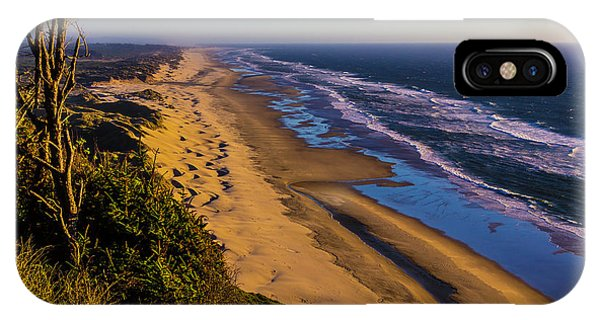 Oregon Sand Dunes iPhone Case - Long Strech Of Oregon Beach by Garry Gay