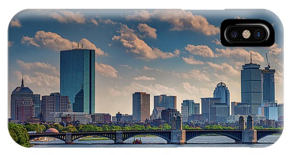 Bean Town iPhone Case - Longfellow Bridge And The Boston Skyline by Rick Berk