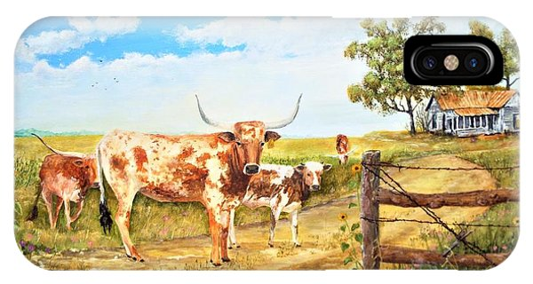 Longhorn Stand Off Your Place Or Mine IPhone Case